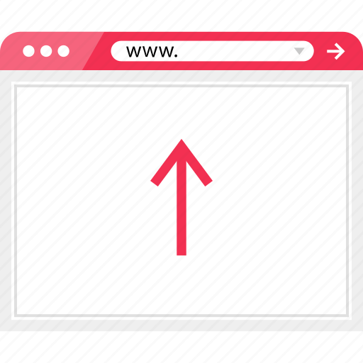 arrow, browser, online, up, upload icon