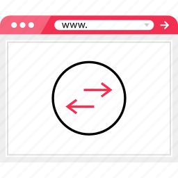 arrows, browser, left, online, right icon