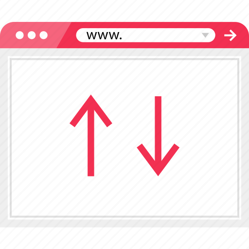 arrows, browser, down, online, up icon