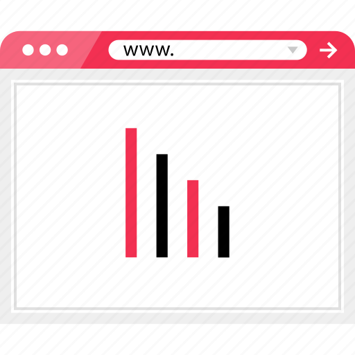 bars, browser, data, graph, online icon