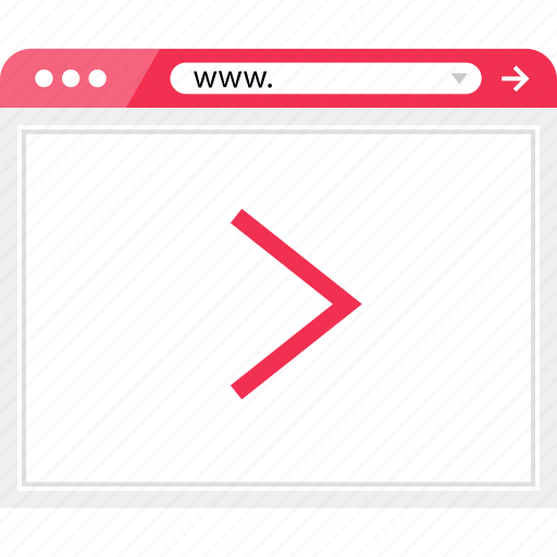 arrow, browser, next, online icon