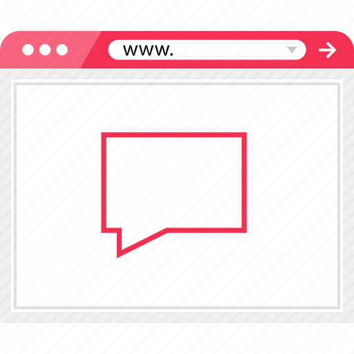 browser, chat, conversation, online icon