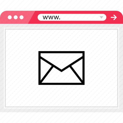 browser, email, mail, online icon