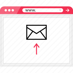 browser, email, online, send, up icon