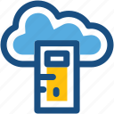 cloud computing, cloud server, computer, desktop, pc icon