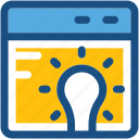 get idea, idea, innovation, invention, online idea icon