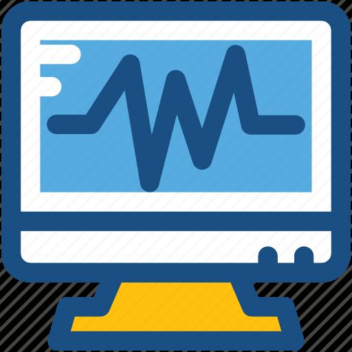 heart rate, heartbeat, heartbeat screen, monitor, screen icon