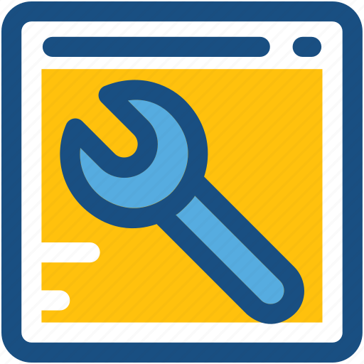 spanner, web options, web preferences, web setting, wrench icon