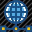 data storage, globe network, globe server, globe share, globe sharing icon