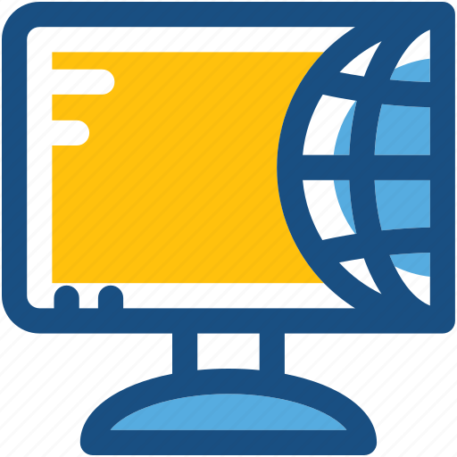 computer, desktop, globe, internet, worldwide icon
