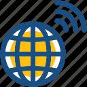 global connection, globe, wifi internet, wifi signals, wireless internet