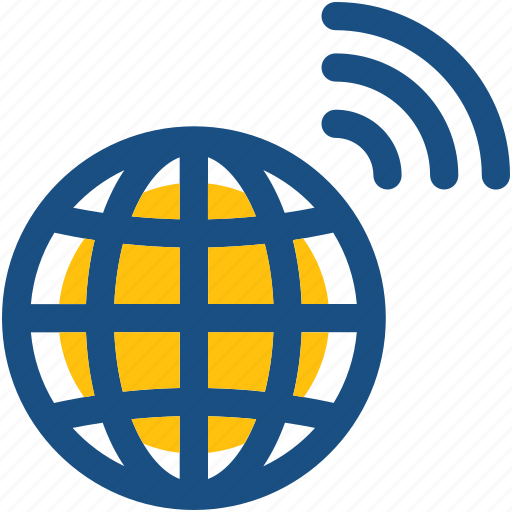 global connection, globe, wifi internet, wifi signals, wireless internet icon