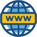 domain, internet, webpage, world wide web, www icon
