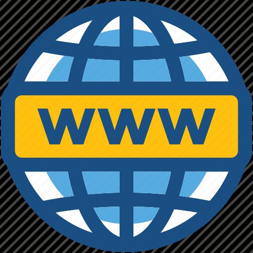 domain, internet, webpage, world wide web, www icon