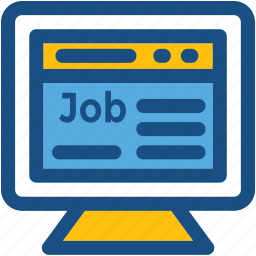 job post, job webpage, position, situation, website icon
