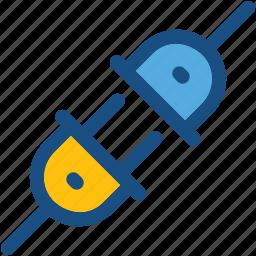 electrical plug, electricity, plug, plug connector, power plug icon