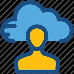 admin account, client, cloud, cloud service, user icon