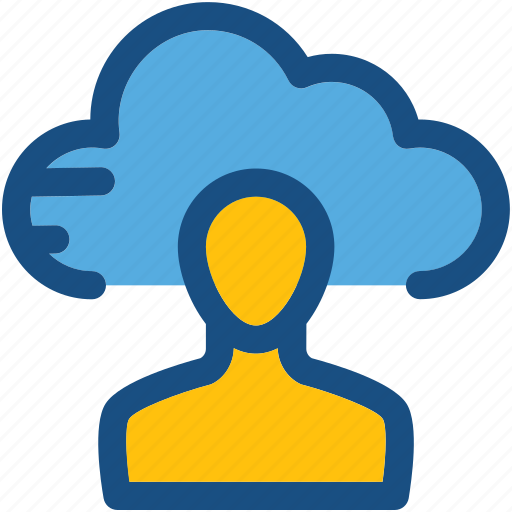 admin account, client, cloud, cloud service, user icon