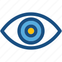body organ, eye, human eye, look, view icon