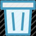 dustbin, garbage can, rubbish bin, trash can, waste bin