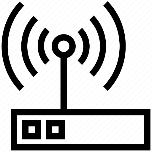 Internet, modem, router, signals, wifi icon - Download on Iconfinder