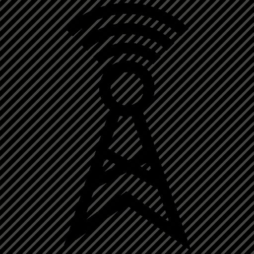 antenna, internet, signals, wifi icon