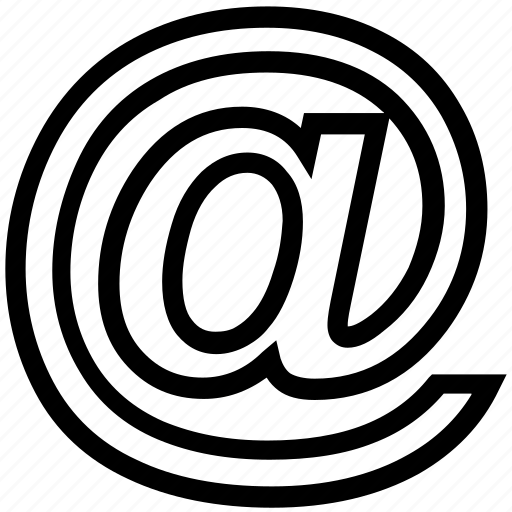 at, email, internet, sign icon