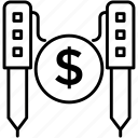 blogging management, content production, digital marketing, paid article, paid script icon