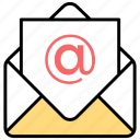 content curation, digital marketing, email marketing, mail advertising, marketing correspondence icon