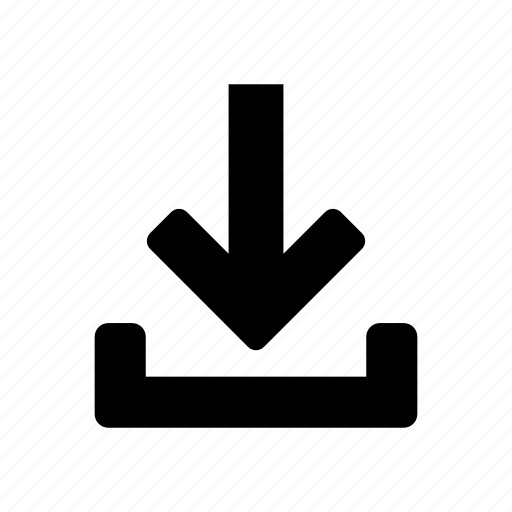 arrow, down, download, file, internet, technology icon