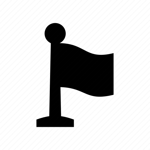 flag, poll, reminder, signal icon