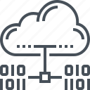 cloud, connection, data, domain, download, hosting, network icon
