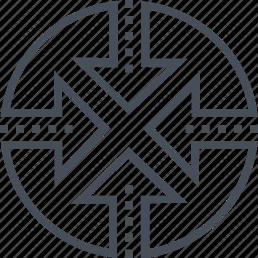 arrow, arrows, four, globe, interaction, network, three icon