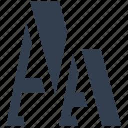 a, internet, letter, typescript icon