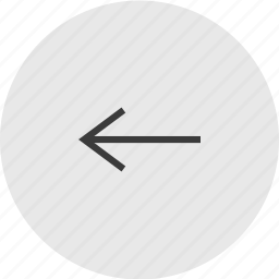 arrow, back, backwards, left icon
