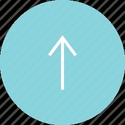 arrow, circle, up, upload icon