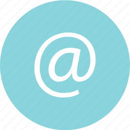 address, at, email, mail icon