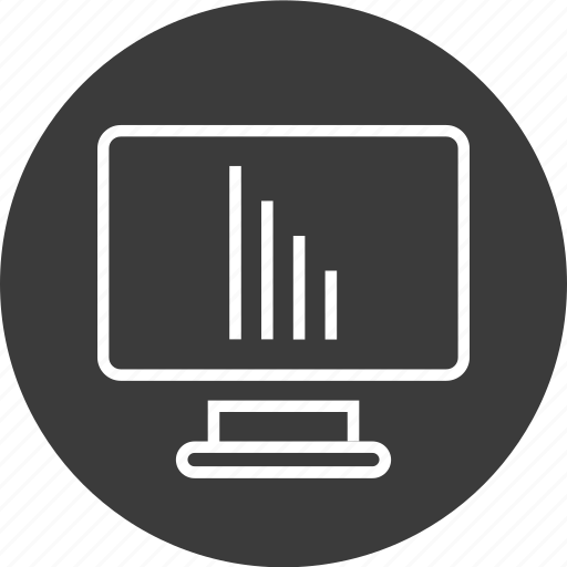 bars, computer, connection, mac, screen icon