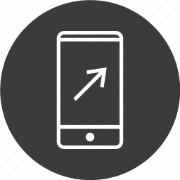 arrow, cell, connect, phone icon