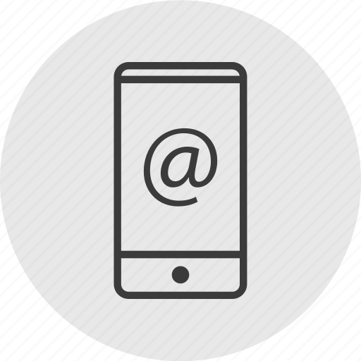 at, cell, email, mail, phone, sign icon