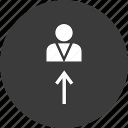 connect, data, profile, upload, user icon