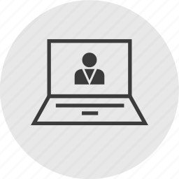 computer, laptop, profile, user icon