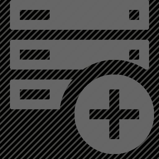 add, database, server icon