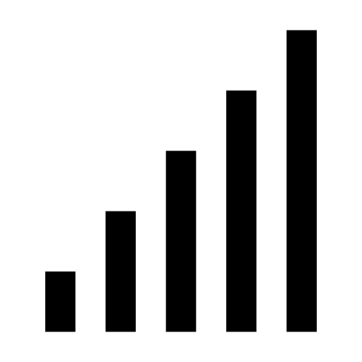 bars, connectivity, coverage, level, signal, strength, wireless icon