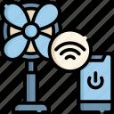 fan, internet, wireless, cloud, online