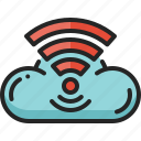 cloud, computing, storage, digital, wifi, network, server