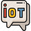 talking, conversation, iot, internet, things, chat, bubble