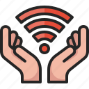 wireless, wifi, online, internet, iot, technology, hand