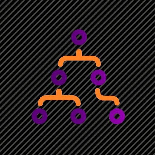 algorithm, analysis, analytics, data, machine learning, process, structure icon