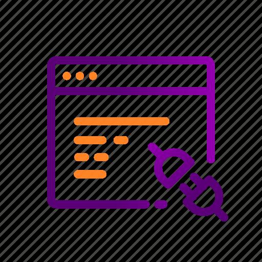 api, code, connect, logic, plugin, program, snippet icon